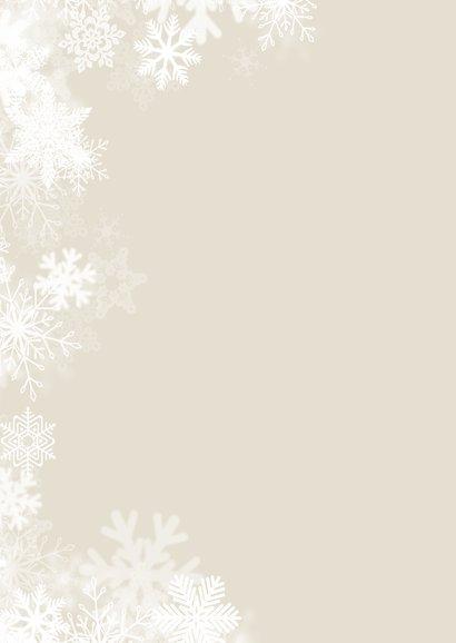 Klassieke foto kerstkaart sneeuw 2