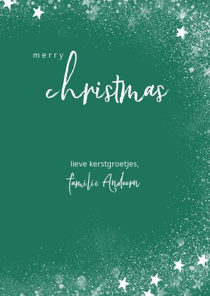 Klassieke fotokaart met ruitenpatroon, sneeuw en christmas 3