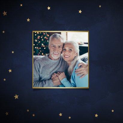 Klassieke kerstkaart gouden sterren 'Merry Christmas' 2