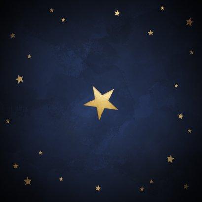 Klassieke kerstkaart gouden sterren 'Merry Christmas' Achterkant