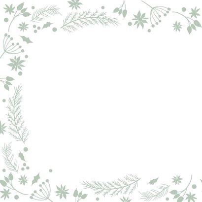 Klassieke kerstkaart kerstbal ornamenten groen 2