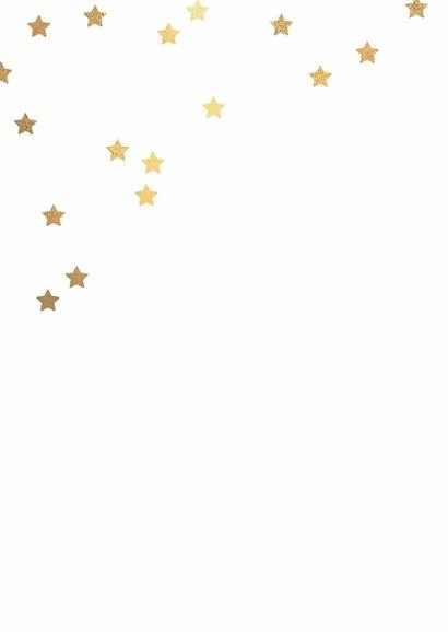 Klassieke zwarte kerstkaart gouden lijst 2
