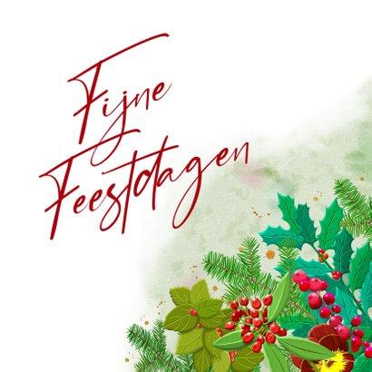 Kleurige kerstkaart met roos en diverse kersttakjes 3