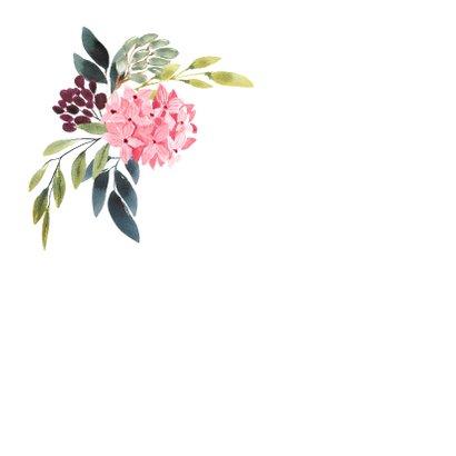 Kleurrijk aquarel kaart met bloemen boeket 2