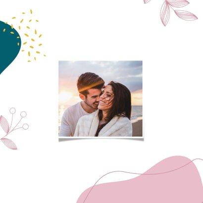 Kleurrijke botanische trouwkaart 2