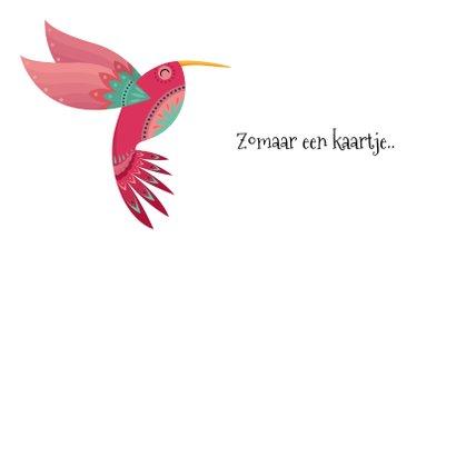 Kleurrijke dierenkaart met sierlijke colibri 2
