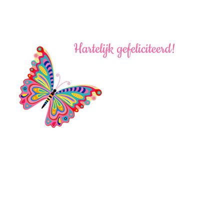 Kleurrijke vlinder verjaardagskaart 2