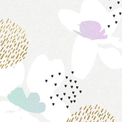 Knuffel kaart bloemen sketch 2