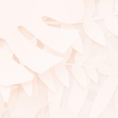 Knuffel kaart met roze bloemen 2