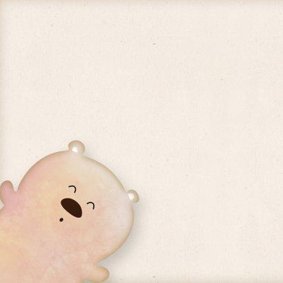 Knuffelkaart met beer en een hart big hug! 2