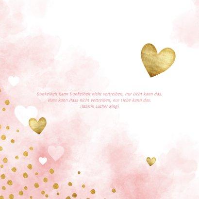 Kommunion Glückwunschkarte Herzen Aquarell 2