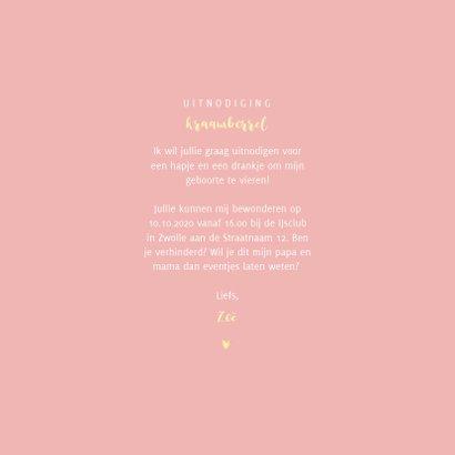Kraamborrel simpel met goudlook sterretjes en hartjes 3