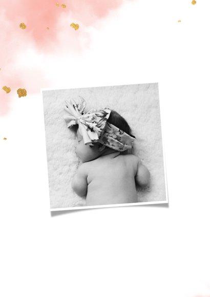 Kraamfeest uitnodiging vlinder goud met waterverf 2