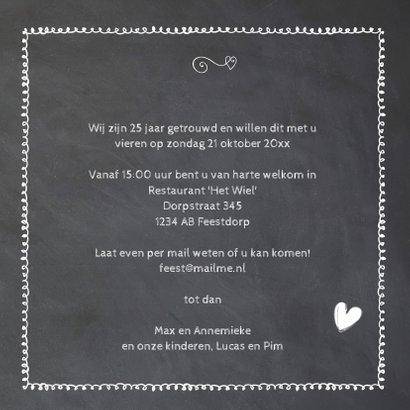 krijtbord 25  jaar huwelijk - hout cijfers 3