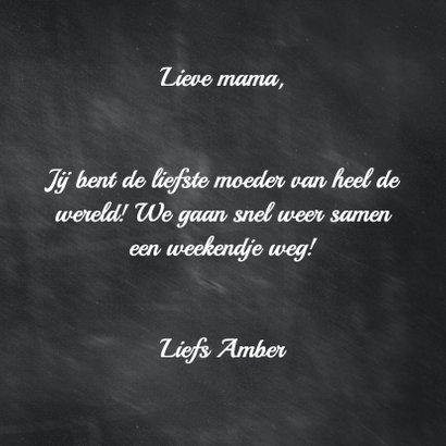 Krijtbord Love you mom! - BK 3