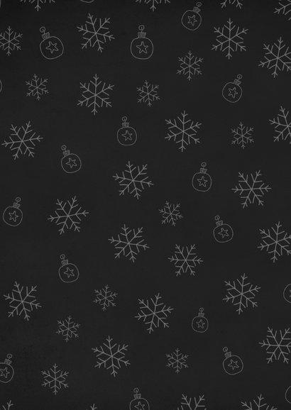 Krijtbord sneeuwvlokjes 2