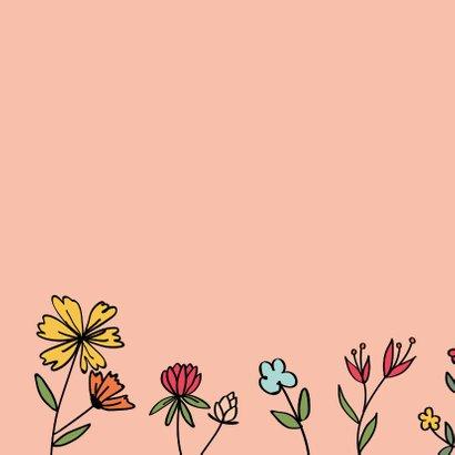 Kus door de brievenbus - hearts and flowers - zomaarkaart 2