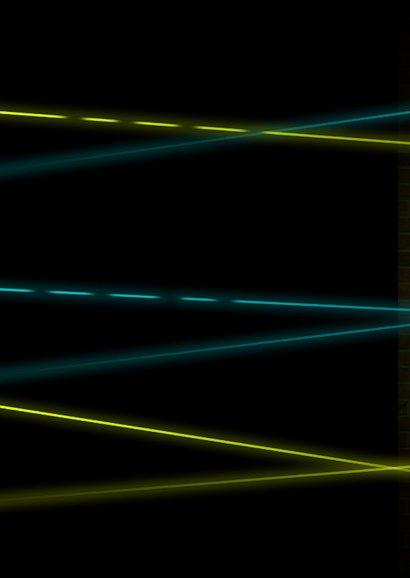 Lasertag Kindergeburtstag Einladung gelb mit Foto Rückseite