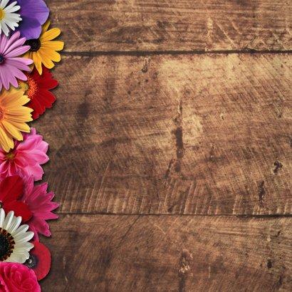 Lentefeest bloemen hout - DH 2