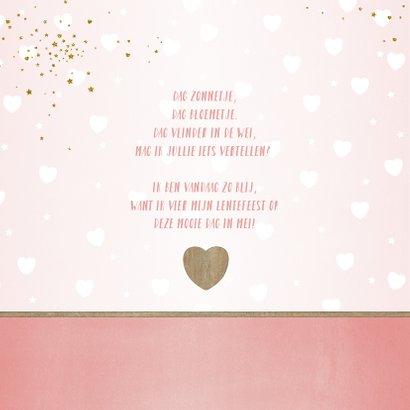 Lentefeest! Hippe foto uitnodiging met hartjes en sterren 2