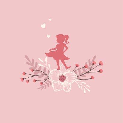 Lentefeest uitnodiging stijlvol en hip met bloemen 2