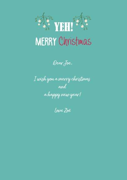Let's kiss under the mistletoe, merry christmas 3