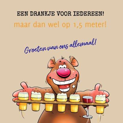 Leuke en grappige verjaardagskaart met beertjes en bier 3