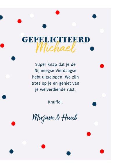Leuke felicitatiekaart medaille, Nederlandse vlag en foto 3