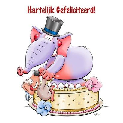 Leuke felicitatiekaart met dieren en grote ring 3