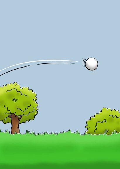 Leuke felicitatiekaart met golfspeler die met pensioen gaat 2