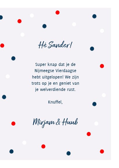 Leuke felicitatiekaart met medaille en Nederlandse vlag 3