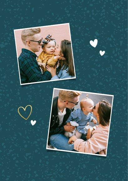 Leuke fotokaart vaderdag 'lieve pap fijne vaderdag' hartjes 2