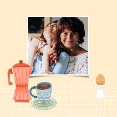 Leuke moederdag kaart tegoedbon voor ontbijt op bed 2