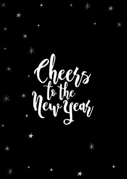 Leuke nieuwjaarskaart met champagnefles en foto's 2