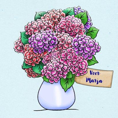 Leuke sorry kaart voor een vriendin met Hortensia-struik 3