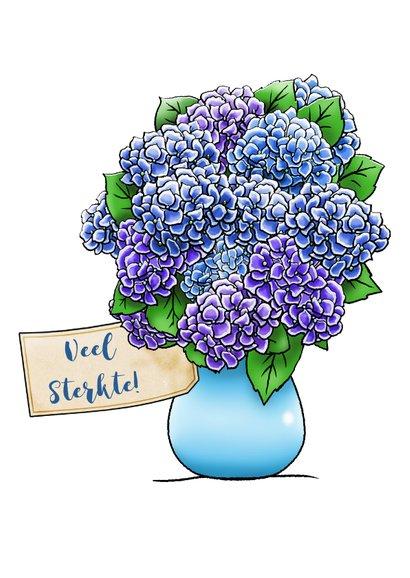 Leuke sterkte kaart, niet gebroken vertrouwen en bloemen 2