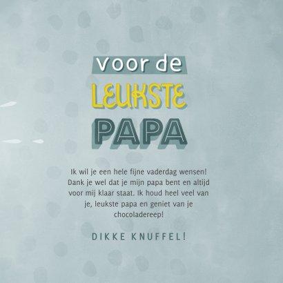 """Leuke typografische vaderdag kaart """"voor de leukste papa"""" 3"""