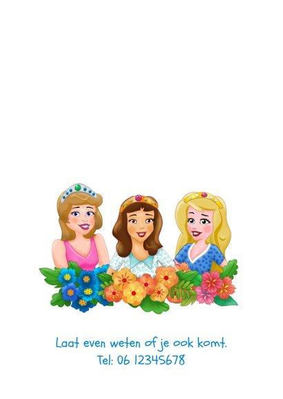 Leuke uitnodiging voor een prinsessen-feestje 2