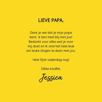 Leuke vaderdagkaart met beton, hartje en typografie 3