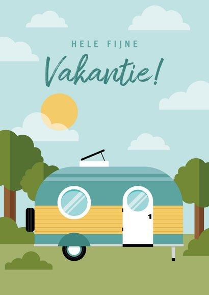 Leuke vakantiekaart met caravan en omgeving 2