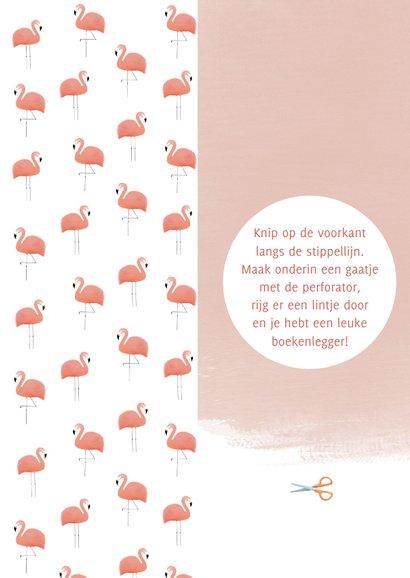 Leuke vakantiekaart tropische boekenlegger met flamingo's 2