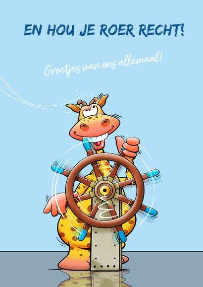 Leuke vakantiekaart voor schipper op een zeilboot of jacht 3
