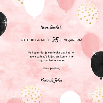 Leuke verjaardagskaart ballonnen, folieballonnen en 'Hoera!' 3