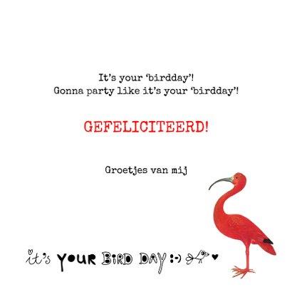 Leuke verjaardagskaart 'It's your birdday!' Met vogels 3