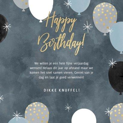Leuke verjaardagskaart met ballonnen en Happy Birthday 3
