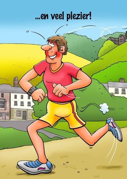 Leuke verjaardagskaart voor een man die aan hardlopen doet 2