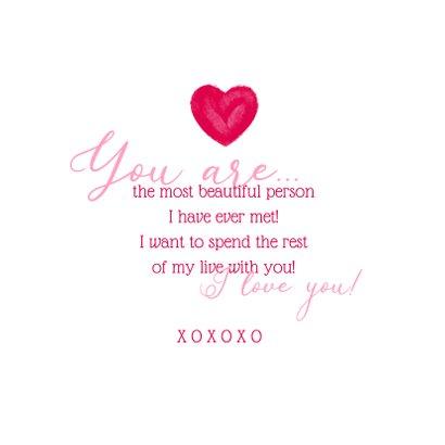 Liebeskarte mit großem Herz 3