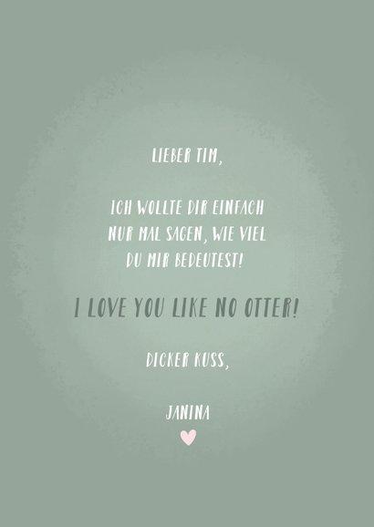 Liebeskarte Otter mit Herzen & Foto innen 3