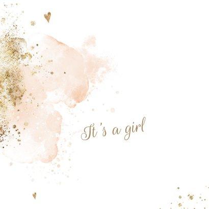 Lief aquarel geboortekaartje meisje 2