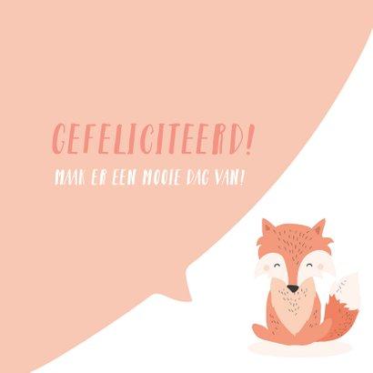 Lief felicitatiekaartje met het gezicht van een vos 3